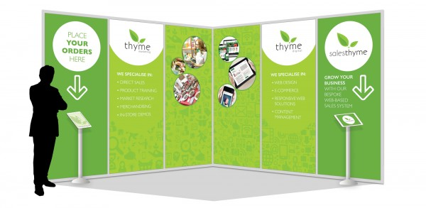 Marketing Exhibition Stand Examples : Thyme digital marketing exhibition design