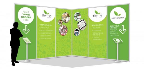 Marketing Exhibition Stand Yet : Thyme digital marketing exhibition design